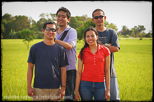 Back: Sherwin, Lloyd. Front: Joey, Joy.