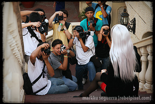 Photographers in action. [2]