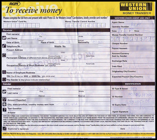 Western Union Quick Cash
