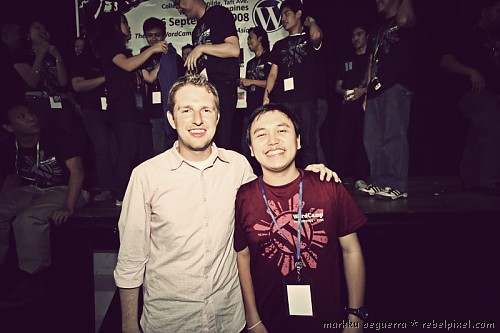 Markku with Matt Mullenweg of WordPress/Automattic.