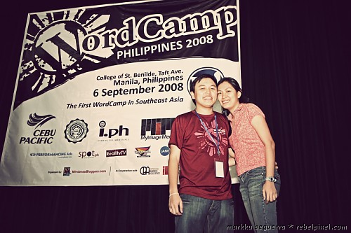 Markku & Hana at WordCamp Philippines 2008.