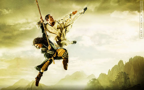 Jackie Chan & Jet Li in 'The Forbidden Kingdom.'