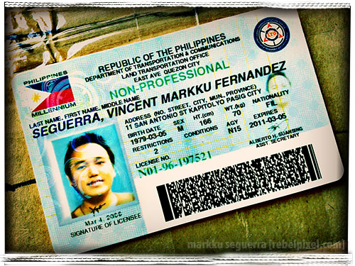 New driver's license.
