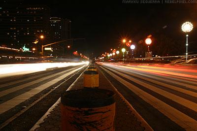 Roxas Boulevard pedestrian crossing.