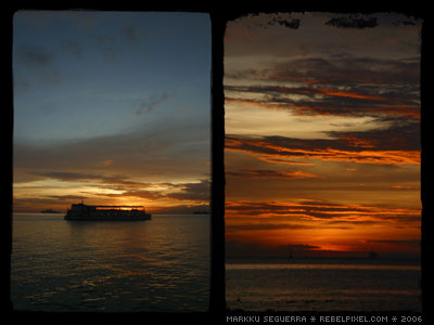 Sunset at Manila Bay.