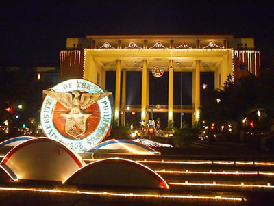 Quezon Hall Christmas, 2002